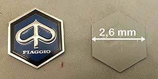 RMS Targhetta PIAGGIO adesiva resinata posteriore 70 mm Rear plate PIAGGIO adhesive resined 70 mm