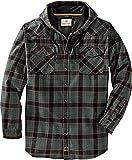 Legendary Whitetails Men's Standard Backwoods Hooded Flannel Shirt, Deep Pine Plaid, X-Large
