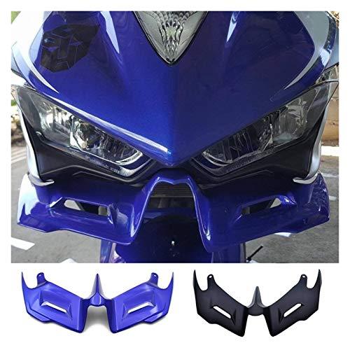 FangFang Motorcycle Front Aerodynamic Winglets Wingshirt Fairing Wing Fit para Yamaha YZF R3 R25 2014-2021 (Color : Blue)
