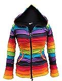 Chaqueta Shopoholic con forro polar y capucha, color arcoíris