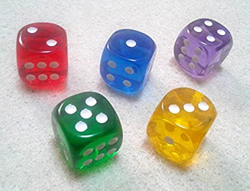 Dice   dice 16mm round corner semi-transparent five Farbe set of 5 (japan import)