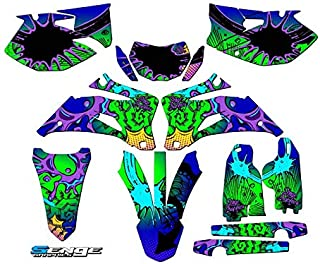 Compatible with Yamaha 2007-2011 WR 450F, Zany Blue Complete Graphics Kit