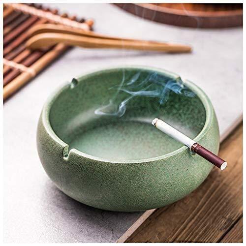 JIAHE115 retro asbak sigaar asbak Chinese retro woonkamer salontafel kantoor winddicht zigarre asbak grijs groen huishouden 16,5 x 6,8 cm, 20,5 x 8,2 cm