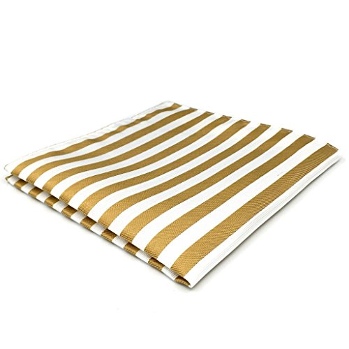 shlax&wing Rayas Beige Blanco Corbatas Para Hombre Traje de negocios Suit Set Corbata Flaca Extra Largo
