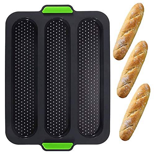 Mini Teglia da Forno,Silicone stampo mini baguette Vassoio per pane Stampo per cottura di pane Teglia antiaderente forata,per utensili da cucina DIY (SGMBMJ)