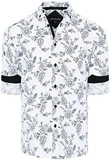 Tarocash Men's Flinders Floral Print Shirt Regular Fit Long Sleeve Sizes XS-5XL for Going Out Smart Occasionwear