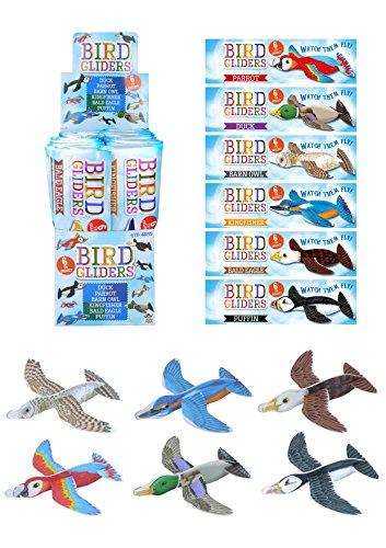 Henbrandt 12x New Animal Birds Aircraft Gliders 16 cm Birthday/ Party Bag -...