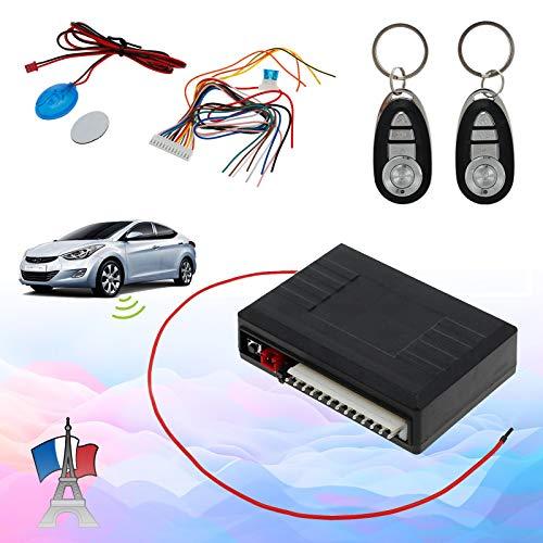 CAMWAY Sistema de Alarma para Coche, Entrada sin llave, Sistema de Seguridad de Alarma,Sistema de Seguridad del Coche con la Sirena Remota Alarmas Universal Para Coche