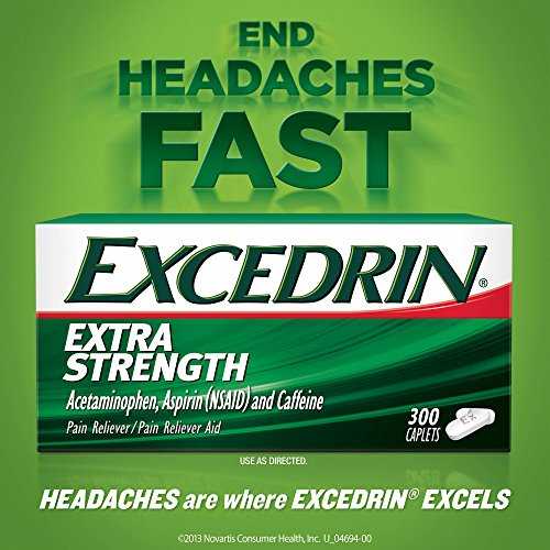 Excedrin Extra Strength Caplets for Headache Pain Relief, 300 Count