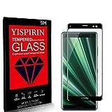 YISPIRIN [2 Piezas] Cristal Templado para Sony Xperia XZ3, [Dureza 9H, Anti-Rasguño,3D Cobertura Completa] Fácil de instalar, Vidrio Templado Protector de Pantalla para Sony Xperia XZ3