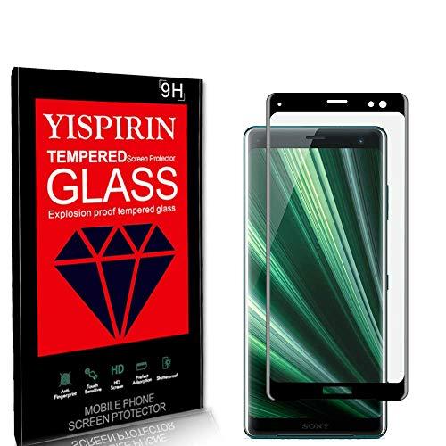 YISPIRIN [2 Piezas] Cristal Templado para Sony Xperia XZ3, [Dureza 9H, Anti-Rasguño,3D...