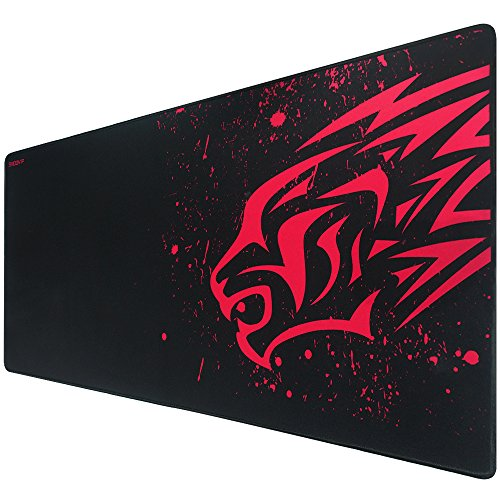 EXCO Mousepad XXL Gaming 900 * 400 * 2 mm, borde cosido, base de goma...
