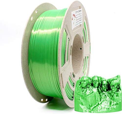 Reprapper Green Silk PLA Filament for 3D Printer 3D Pen 1 75 mm 0 03 mm 2 2 lbs 1 kg Silky Shiny product image