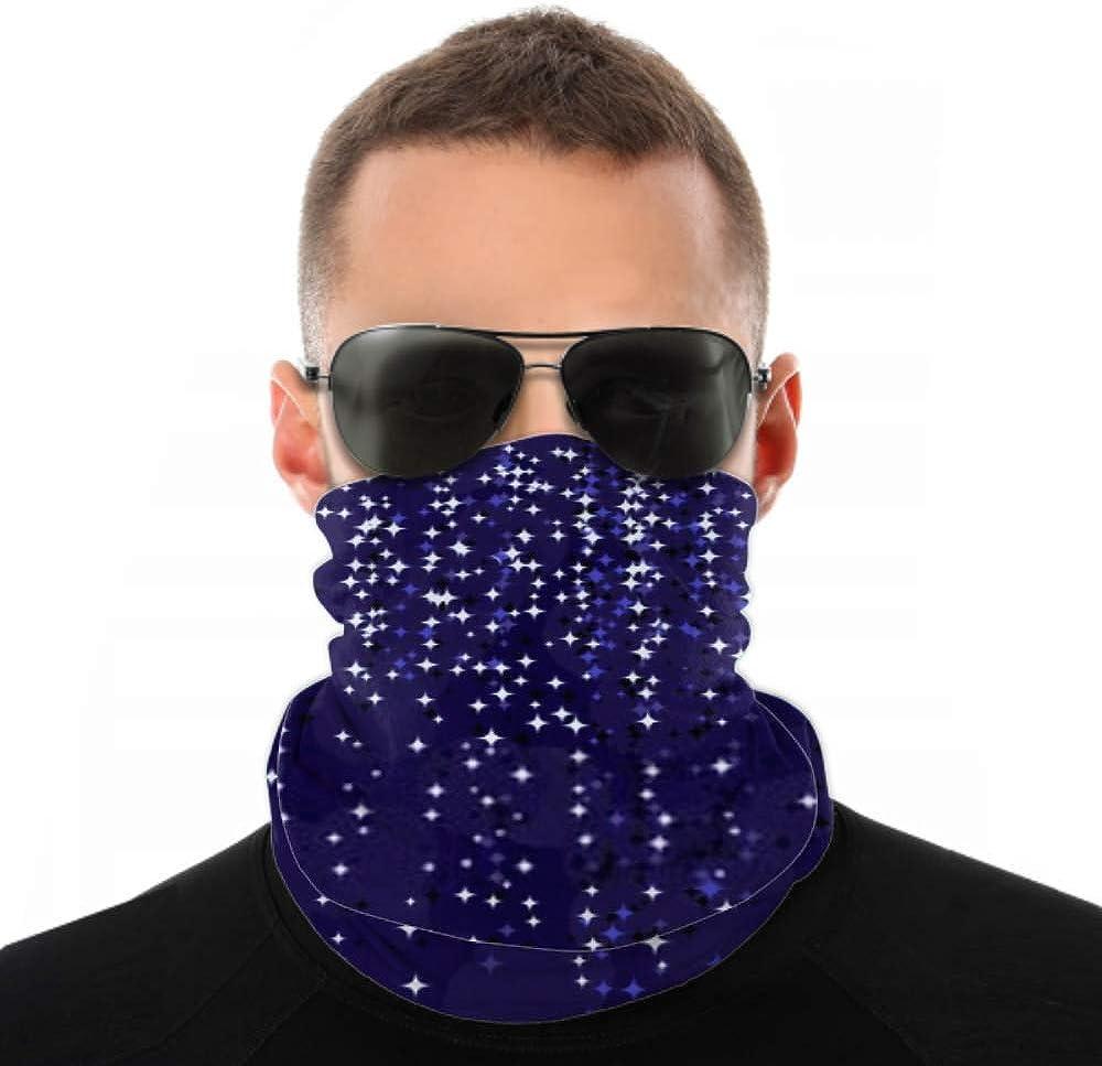 Headbands For Men Women Neck Gaiter, Face Mask, Headband, Scarf Christmas Background Stars Vector Illustration Turban Multi Scarf Double Sided Print Elastic Headbands For Women For Sport Outdoor