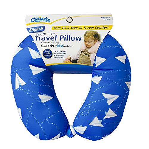 Cloudz Kids Dual Comfort Microbead Travel Neck Pillow - Blue