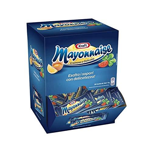200 BUSTINE Di Maionese In MONODOSE Da 15 Millilitri Box Mono PORZIONE Kraft Mayonnaise