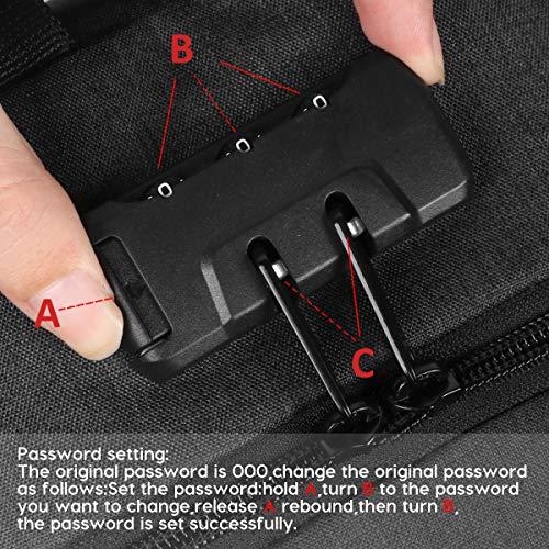 Laptop Rucksack Herren, Groß Business Rucksack Diebstahlsicherer Rucksack 15.6 Zoll Schulrucksack mit USB Ladeanschluss Wasserdicht Multifunktion Rucksack für Arbeit,Schwarz