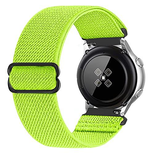 RockloookY Cinturino elastico da 20mm compatibile con Galaxy Watch Active/Active2 40mm 44mm/Galaxy Watch 3 41mm/Gear Sport, cinturino di ricambio in nylon morbido per donna uomo (giallo)