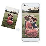 kitayou iPhone5 / 5S / SE Personalized Custom Picture Print Case,Personal Style Custom Picture Clear Transparent Case Flexible TPU Soft Gel Protective Cover for iPhone 5 iPhone 5S iPhone SE 4 inch