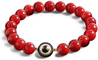 L&C Feng Shui Black Obsidian Beaded Bracelet - Women Mens 8MM Natural Obsidian Crystal Evil Eye Onyx Relief Reiki Healing ...