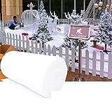 ISAKEN Mantas de Nieve Artificiales, Alfombras di Nieve para Exhibiciones Navideñas, Faldas de Árboles de Navidad, Manta de Nieve Blanca, 240 * 80cm