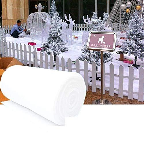 LICHENGTAI Weihnachten Schneedecken, Weihnachtsdeko Schneedecke, Künstliche Schnee Decken für Weihnacht Dorf Hintergrund Dekorationen, Schnee Matte Schneeteppich Dekorationen