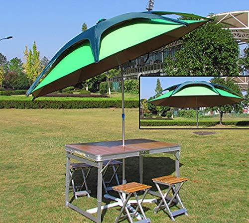LSHUAIDJ - Conjunto de mesa y silla, mesa de picnic portátil, mesa plegable, aluminio, mesa de exterior, silla, soporte de metal, mesa de madera, adecuado para: reunión