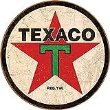 gas signs vintage - Desperate Enterprises Texaco '36 Round Tin Sign, 11.75