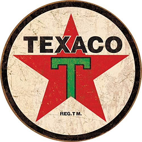 Desperate Enterprises Texaco '36 Round Tin Sign