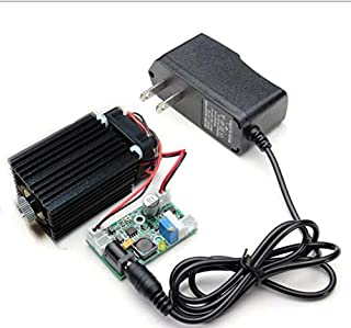 Focusable 450nm 2W 2000mw Blue Cross Laser Module W/Driver+Cooling Fan+TTL 12V +12V Adapter