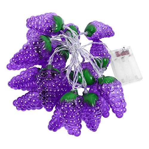 OSALADI LED Trauben Lichterketten 3D Funkeln Lichter Obst Lichterketten LED Lichterkette Batterie für Kinder Weihnachten Ostern Party Begünstigt Geschenke Ornamente (Ohne Batterie)