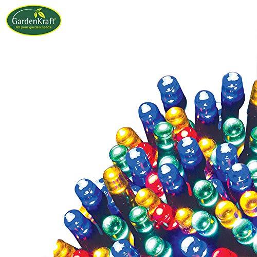 GardenKraft 15580 Benross Led-lichtsnoer, meerkleurig, 50 lampen