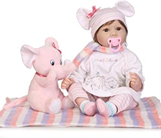 "Reborn Baby Doll, 100% Handmade Soft Silicone 22"" /55cm Lifelike Newborn Doll for Children Xmas Gift-RB172"