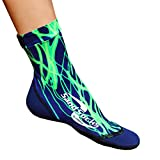 Sand Socks for Soccer, Volleyball, Snorkeling (Youth/Adult) Small Green Lightning