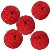 Gleader 5 x rojo espuma payaso nariz del partido del traje del vestido de lujo de cosplay