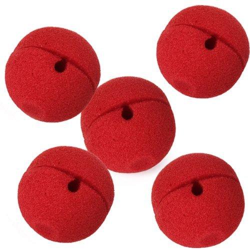 Gleader 5 x rojo espuma payaso nariz del partido del traje d