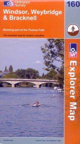 OS Explorer map 160 : Windsor, Weybridge & Bracknell