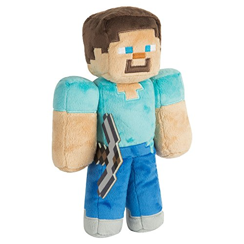 JINX Minecraft Steve Plush Stuffed Toy, Multi-Colored, 12' Tall