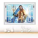 3D-Effekt Aquaman Fenster Wandaufkleber Wohnkultur