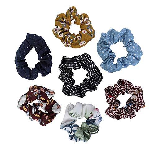 OULN1Y Bandeaux Chiffon Bow Long Hair Scrunchies Bow Women Hair Accessories Rubber Hair Rope Ponytail Holder Bows,2 Random send 1pc