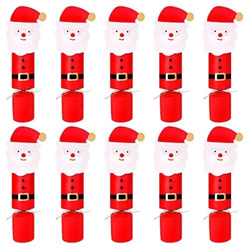 10 piezas de galletas de Navidad de Papá Noel Caja de dulces navideños Cajas de galletas de Navidad Cajas de regalo vacías para dulces Caja de papel navideño para Decoración navideña