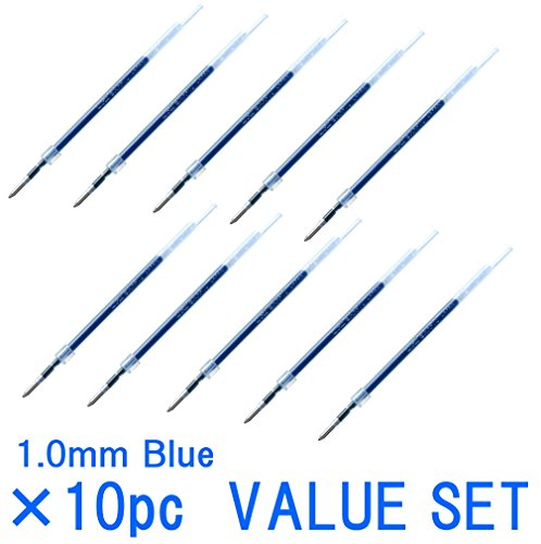 Uni-ball Jetstream Fine Point Roller Ball Pens Refills for Standard Pen Type -1.0mm-blue Ink-value Set of 10 (With Our Shop Original Product Description) …