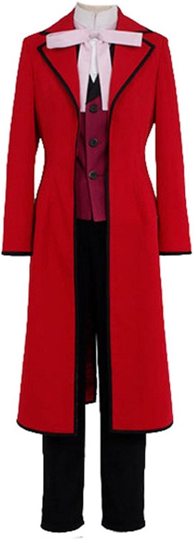 Fuman schwarz Butler Shinigami Grell Sutcliff Cosplay Kostüm ROT DZ