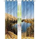 Cortina de ventana Idyllic Oasis Awbari W42 x L84 cortinas para sala de estar