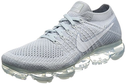 Nike Men's Air Vapormax Flyknit Running Shoe Pure Platinum/White-Wolf Grey 10.5