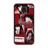 Coque fine en TPU pour Xiaomi Redmi Note 9 Pro/9S Anime-Kakegurui Jabami-Yumeko 2 Noir mat