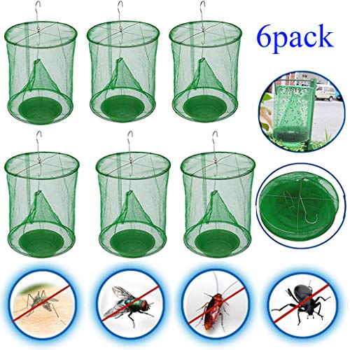 ALOVEWE Ranch Fly Trap Flay Catcher for Outdoor The Most Effective Trap Ever Made Fishing Apparatus with Food Bait Flay Catcher Family Farms Park Restaurants