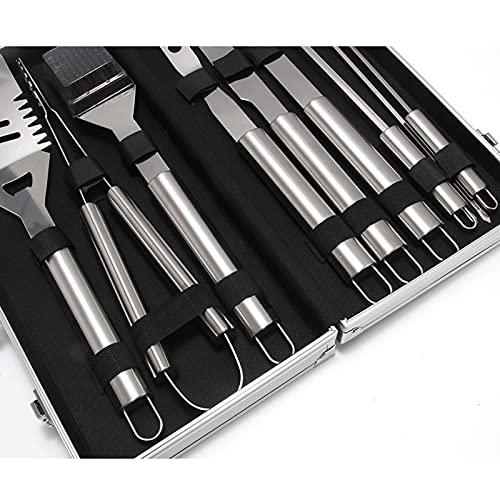 51DAGC vhiS. SL500  - T TOOYFUL BBQ Grillzubehör Werkzeug-Set, 18-teiliges Hochleistungs-Edelstahl-Grillgerät mit Koffer, Grillwerkzeug Grill-Set für Vatertagsgeschenk Tools