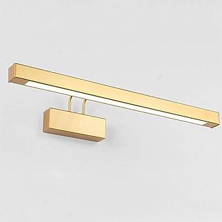 LMDH Lámpara de Metal Delantera de Oro Espejo tocador del baño LED Luz -Simple Maquillaje Ligero de la Pared lámpara de Pa...