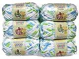 BERNAT Baby Blanket Yarn, 3.5oz, 6-PACK (Funny Prints)